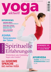 Cover des Yoga Aktuell Magazines 2009